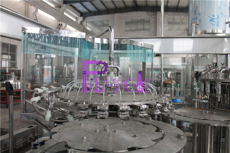 38mm Bottle Neck 24 Head Juice Filling Machine With Temperature Control